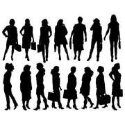 Vector silhouette of a businesswoman. Stock Illustration