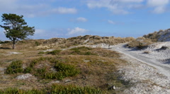 Fast moving towards  Falsterbo beach  Stock Footage