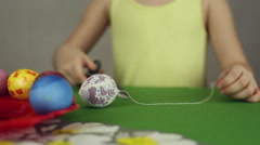 Preparation of Easter eggs, the feast of the passover - stock footage