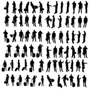 Vector silhouette of business people. Stock Illustration