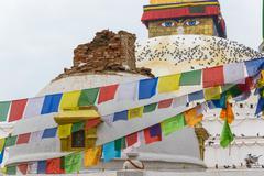 Nepal earthquake in Kathmandu - stock photo