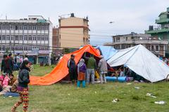 KATHMANDU, NEPAL - APRIL 25, 2015: - stock photo