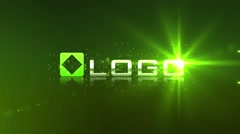 Glow Green Particle Light Streak Logo Reveal Animation Intro - stock after effects