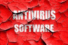 Grunge cracked Malware computer background - stock illustration