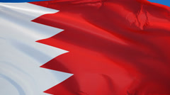 Bahrain flag in slow motion seamlessly looped with alpha Stock Footage