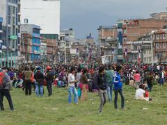 KATHMANDU, NEPAL - APRIL 25, 2015: - stock photo