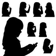 Vector silhouette of girl. Stock Illustration