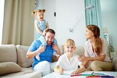 Staying at home Stock Photos