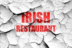 Grunge cracked Delicious irish cuisine - stock illustration
