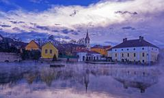 Small city,Tapolca Kuvituskuvat