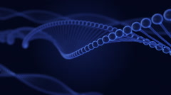 DNA double helix background Stock Footage