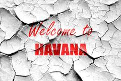 Stock Illustration of Grunge cracked Welcome to havana