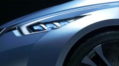 4K Beautiful futuristic car - stock footage