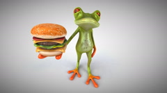 Computer animation - Fun frog Stock Footage