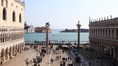 Piazza San Marco, the principal public square of Venice, Italy Stock Footage