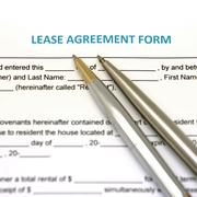 lease agreement document - stock photo