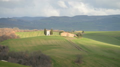 Countryside landscape in Tuscany region of Italy, EU, Europe - stock footage