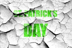 Grunge cracked St patrick's day Stock Illustration