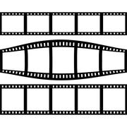 Filmstrip Set With Three Different Versions of Film Stock Illustration