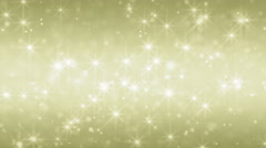 Golden particle seamless loop background Stock Footage