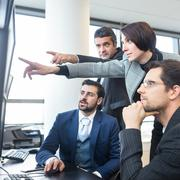 Stock Photo of Business team working in corporate office.