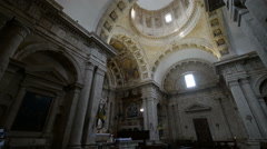interior of the church in the city Montepulciano, Tuscany, Italy. - stock footage