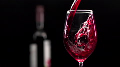 Pouring Red Wine /Cabernet Sauvignon/ Into a Glass Stock Footage