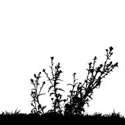 Vector silhouette of nature. - stock illustration