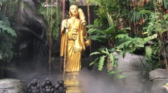 Golden statue at the golden mount in Bangkok Stock Footage