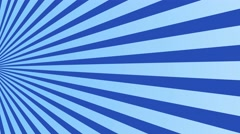 Radial rising sun burst loop geometric motion background blue Stock Footage