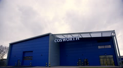 Time Lapse Shot of Cosworth Car Parts Manufacturer In Northampton UK Stock Footage