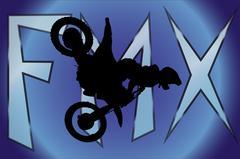 Vector silhouette of a motocross. Stock Illustration