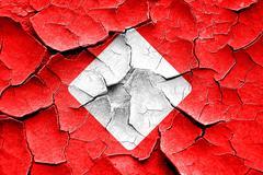 Grunge cracked Diamond card background - stock illustration