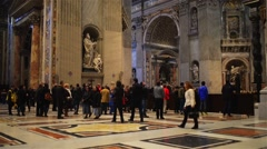 Papal Basilica of St. Peter in Vatican, Rome, Italy - stock footage