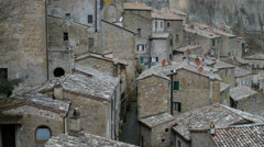 Beautiful medieval town in Tuscany, Sorano, Italy, EU, Europe. - stock footage