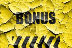 Grunge cracked Bonus sign with smooth lines Stock Illustration