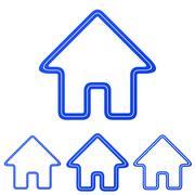 Stock Illustration of Blue line homepage logo design set