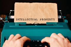 text intellectual property typewritten - stock photo