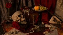 VANITAS art Stock Footage