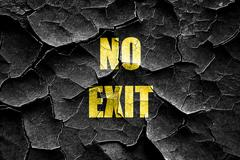 Stock Illustration of Grunge cracked No exit sign