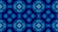 Abstract fractal pattern, symmetric royal background - stock footage