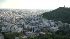 Athens, Greece. A view of the city from the Acropolis. Stock Footage