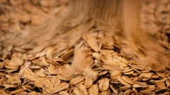 Oats Poured Into Pile Stock Footage