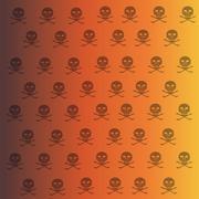 Vector wallpaper with skulls. - stock illustration