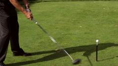 Golf Trick Shot Slow Mo Stock Footage