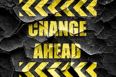Grunge cracked Change ahead sign Stock Illustration