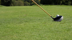 Golf Swing Slider Shot Stock Footage