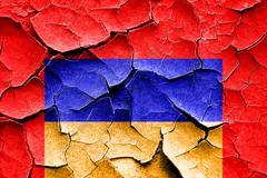 Grunge cracked Armenia flag Stock Illustration