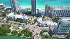 Aerial video of La Gorce Palace Miami Beach Stock Footage
