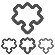 Line puzzle logo design set Stock Illustration